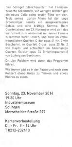 Solingen Konzert 141123 rück