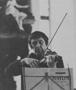 Franz Konzertmeister allein