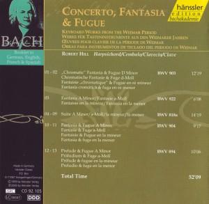 Bach Hill Fantasien Cover Titel