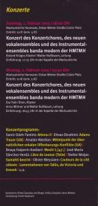 Hannover Handzettel Konzerte