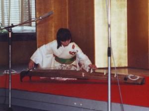 Koto-Spielerin 1989