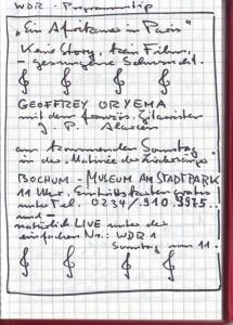 Matinee 1993 Oryema