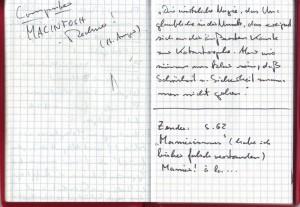 Notizbuch 1993