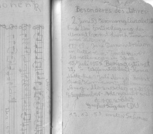 Tagebuch 1953 Historisch