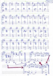 Bach Harmonie-Schema