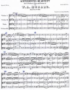 Mozart 464 erste Seite