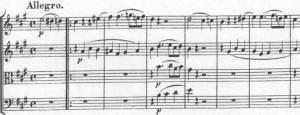 Mozart Quartett Finalthema