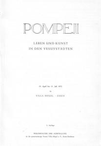 Pompeji Essen 1973 Text