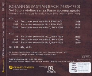 Bach Gil Shaham rück