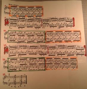 Chopin Prélude 5 - sichtbare Beziehungen