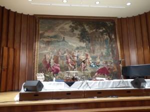 Indisches Konzert leere Bühne 150311