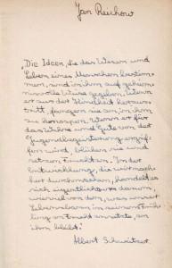 Albert Schweitzer Buch Vorspruch