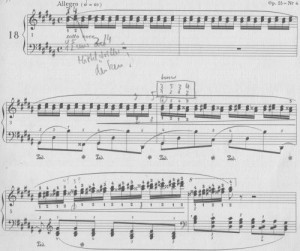 Chopin Etude gis Terzen üben