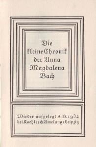 Chronik Anna Magdalena Titel