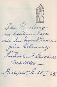 Chronik Anna Magdalena Widmung