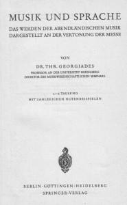 Georgiades Messe Titel