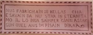 Engadin Inschrift a