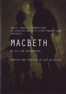 Macbeth Titelblatt