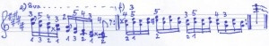 Chopin Übungen Terzenläufe e - f