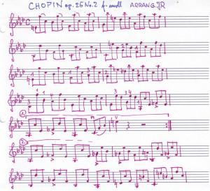 Chopin Bass für Violine y