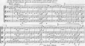 Beethoven Dankgesang Choral