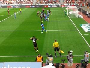Fussball x Leverkusen Hoffenheim 15 August 2015