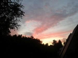 Abendhimmel und Nachbarn auch