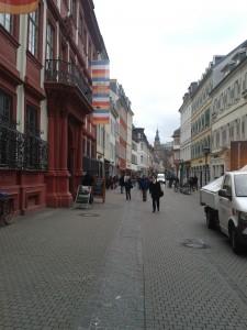 Heidelberg Hauptstraße hin