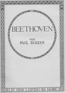 Beethoven Bekker b