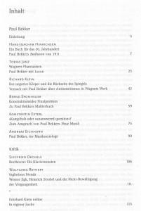 Bekker in Musik & Ästhetik