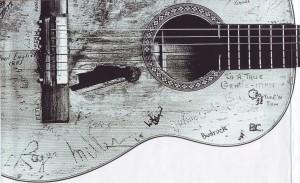 Gitarre Willie Nelson gedreht