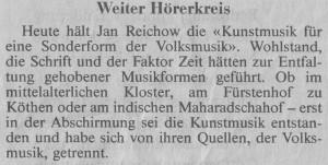 Kunstmusik Zürcher 92