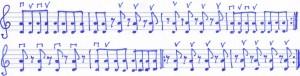 Nachschlagen Geige