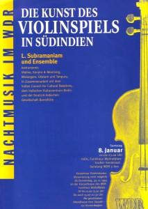 Südindische Violine Plakat neu