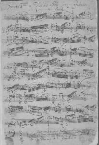 Bach BWV 1001 Palschau