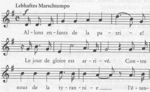 Marseillaise Anfang