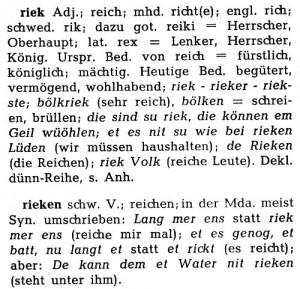 Solinger Sprache reich