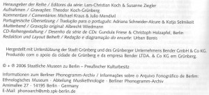 Koch-Grünberg CD Editorial