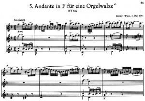 Mozart Orgelwalze III