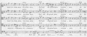 Bach Motette Erd und Abgrund