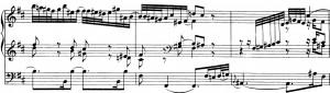 Bach Orgel h-moll-Einwurf