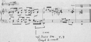 Bach WTC II Fuge c-moll