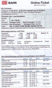 Bahn SG Krozingen & zurück