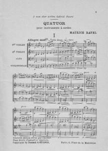 Ravel Quatuor