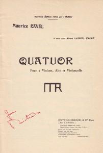 Ravel Titel Quatuor