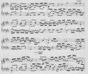 Bach cis-moll Fuge Detail