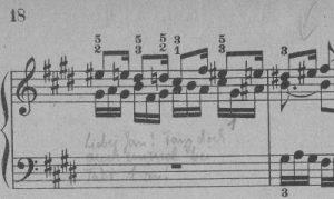 Bach cis-moll Fuge Seite 2 Detail