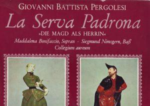 La Serva Padrona Titelseite