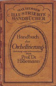 Riemann Orchestrierung Titel