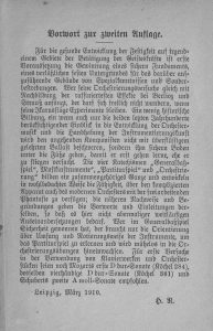 Riemann Vorrede 1910